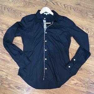 BURBERRY London Check Black Button Down Shirt S